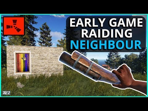 Early Wipe ECO-RAIDING My Neighbour! Rust Solo Survival Gameplay