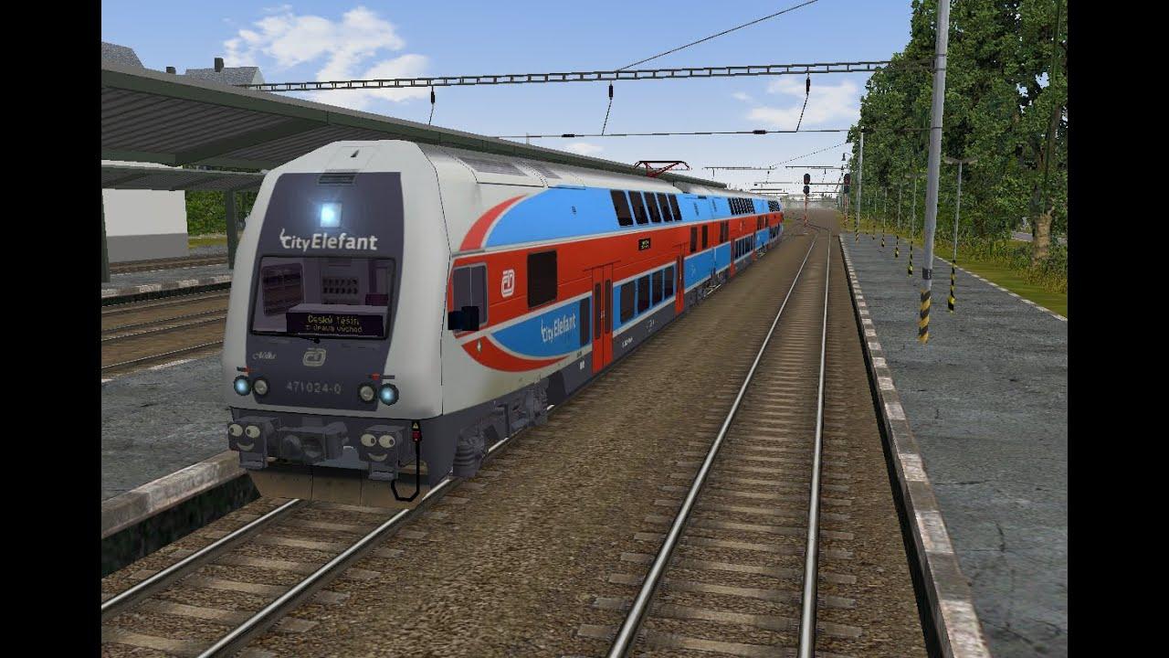 Microsoft Train Simulator - trať 321   Os 3424 Český Těšín - Opava Východ Ep. 1 - YouTube