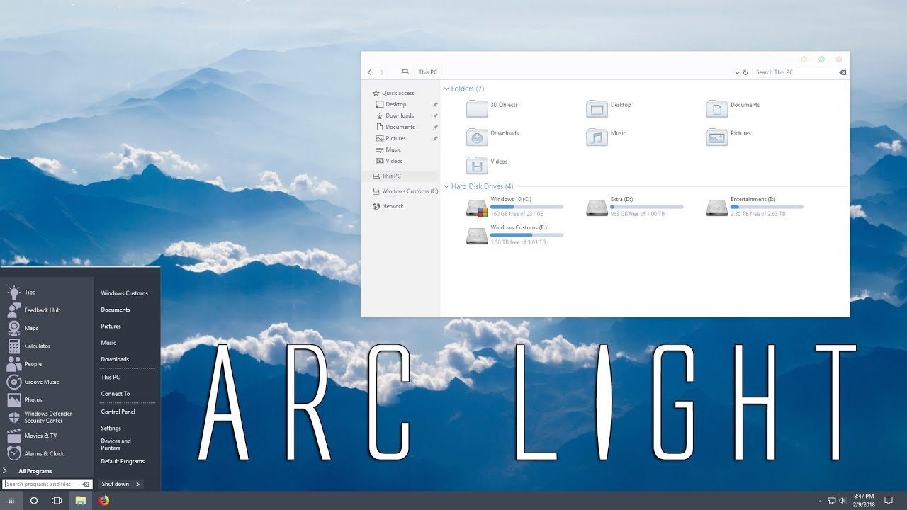 Windows 10 Theme - ARC Light