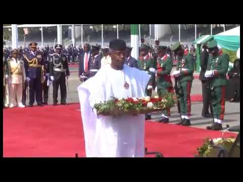 2018 Armed Forces Remembrance Day : Buhari,Osinbajo, Saraki,other lay Wreath At National Arcade