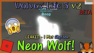 Roblox - Wolves' Life 3 v2 BETA - Neon Wolf! (leaked) #43 - HD