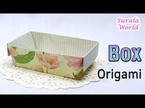 Origami - Box, Basket (How to make a paper Box, DIY)