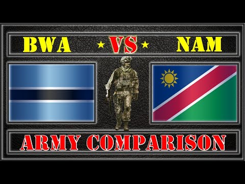 Botswana VS Namibia Comparison of Army and Armed Forces,Military Power
