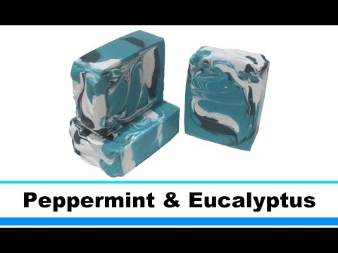 Peppermint & Eucalyptus, Cold Process Soap Making and Cutting, 25th Loaf