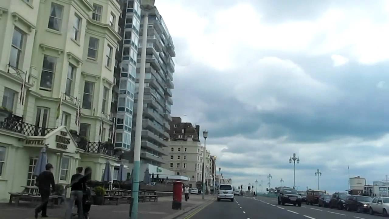 Driving Around Brighton + Hove Sea Front - YouTube
