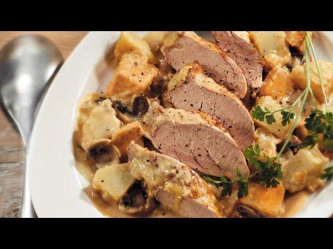 Roast Pork Tenderloin And Mushroom Dinner   2011 Milk Calendar Recipe