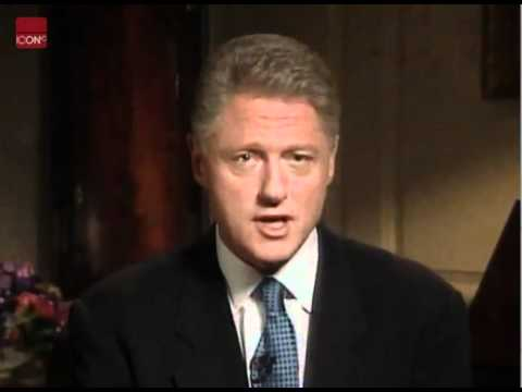 Bill Clinton admits to having inappropriate relationship with Monica Lewinsky