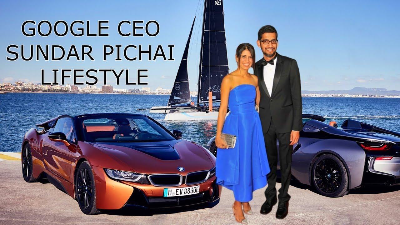Sundar Pichai (Google CEO) Lifestyle 23  Cars  Net Worth