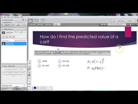 How do I find the predicted value of a car?  AMDM 3.17 #2
