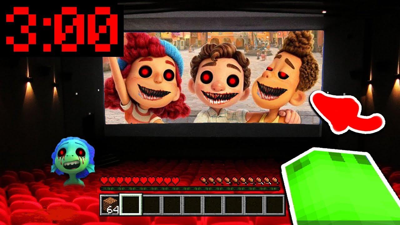 SCHAUE NIEMALS LUCA FILM 3 UHR NACHTS IM KINO in Minecraft!