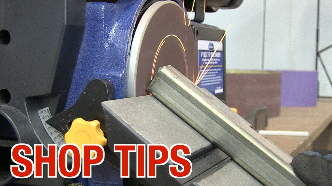 Tips With The Belt Disc Sander From Eastwood Youtube