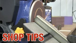 Tips with the Belt / Disc Sander from Eastwood