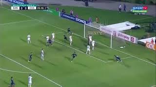 Santos 0 x 1 Chapecoense (HD)  GOL DO LEANDRO