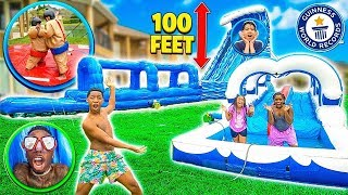 SURPRISING THE KID'S WITH A BACKYARD WATERPARK!