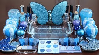"Mixing ""BLUE""Makeup,More Stuff &BLUESlime Into slime!Most Satisfying Slime Video."