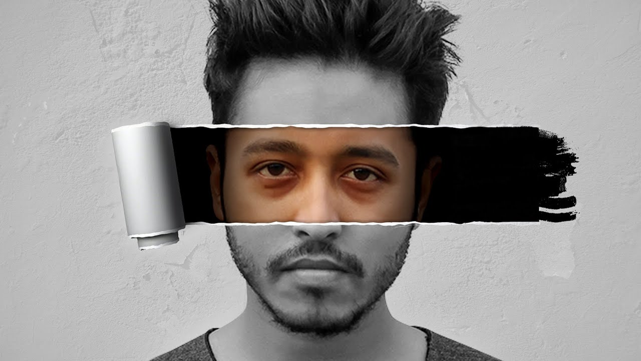 Photoshop tutorials how to make torn or ripped paper effect on photoshop tutorials how to make torn or ripped paper effect on face youtube baditri Gallery