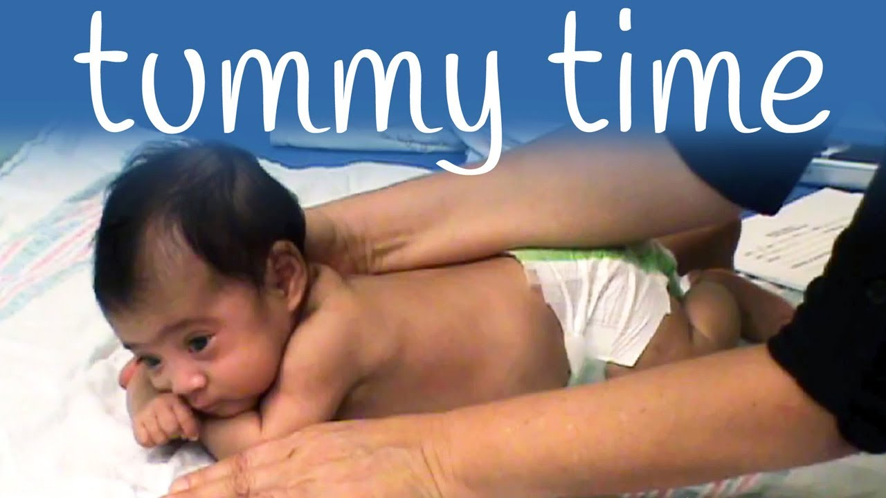 6d5b16792 Tummy time exercises for your baby - YouTube
