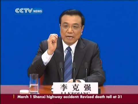 China premier Li Keqiang gives press conference