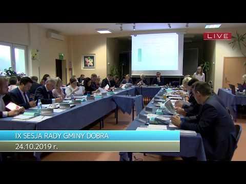 IX Sesja Rady Gminy Dobra