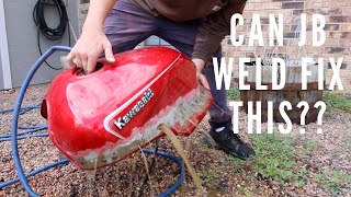 Can JB Weld fix this gas tank??
