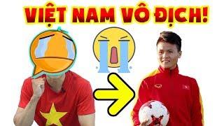 Người Hàn chơi liều cắt tóc giống Quang Hải và cái kết ??? || Người Hàn cổ vũ Việt Nam