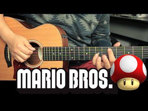 Super Mario Bros - Underworld Tutorial Guitarra | Guitar Lesson (HD)