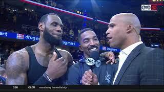 Richard Jefferson, LeBron James crash postgame interview after Cavs sweep Raptors | NBA PLAYOFFS