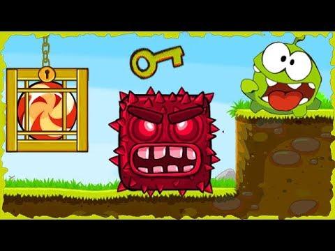 Om Nom In Red Ball 4 Deep Forest Mobile Game Walkthrough