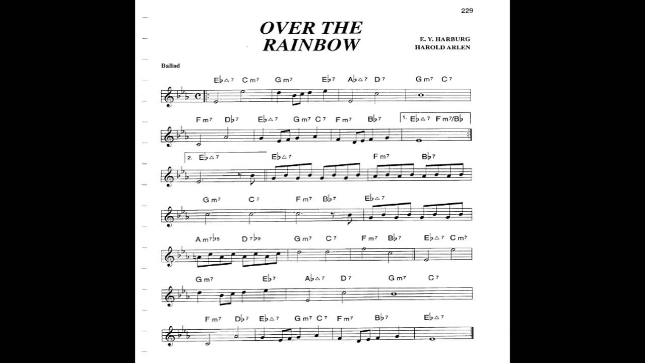 Over the rainbow play along backing track c key score violin over the rainbow play along backing track c key score violinguitar piano hexwebz Gallery