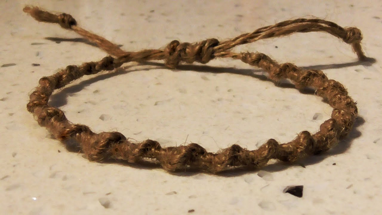 Retro Macrame Spiral Hemp Bracelet With Adjule Tie Off How To You