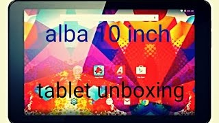 "10"" alba android tablet unboxing"