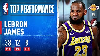 LeBron (38 PTS, 12 REB, 8 AST) Leads Lakers To Game 3 Win!