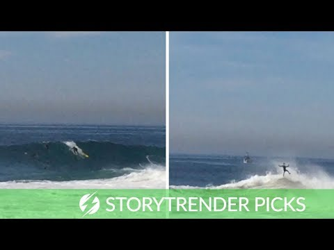 Surfer Gets Tossed About Like A Rag Doll