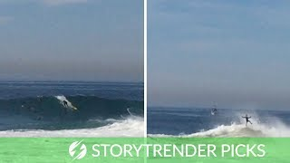 Surfer Gets Thrown About Like A Rag Doll