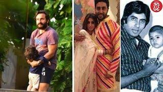 Taimur's Playtime With Daddy Saif   Big B, Abhishek's Birthday Wishes For Shweta Bachchan Nanda