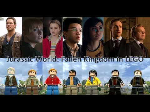 How to made Jurassic World: Fallen Kingdom Characters in LEGO Jurassic World 50 subs Special |
