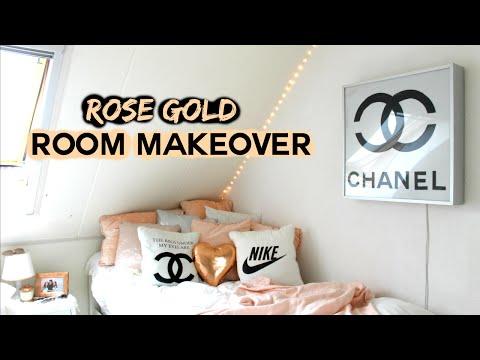Room Makeover !!! Rose gold DIY's | Demiana Acis