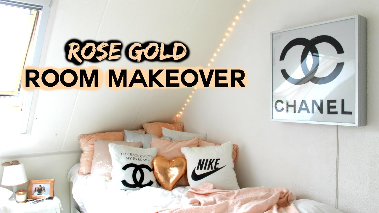 Room Makeover !!! Rose gold DIY\'s | Demiana Acis - YouTube