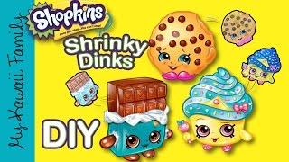 SHOPKINS Shrinky Dinks! Kawaii DIY Make Your Own Shrink Shopkins! My Kawaii Family