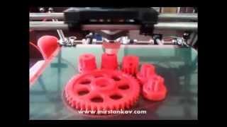 Работа 3D принтера. Выращивание шестерни.(Предcтавляем Вашему вниманию новинку, уникальное оборудование, то что еще пару лет назад даже не могли себе..., 2012-07-22T10:45:52.000Z)