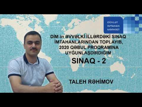 DİM. TARİX. SINAQ - 2