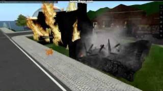 Grand brule - Incendie - Pompier - Second Life