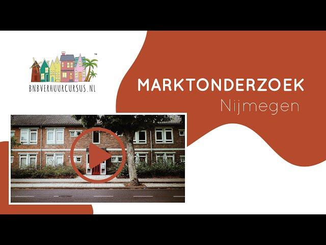 Marktonderzoek Nijmegen bnb verhuur