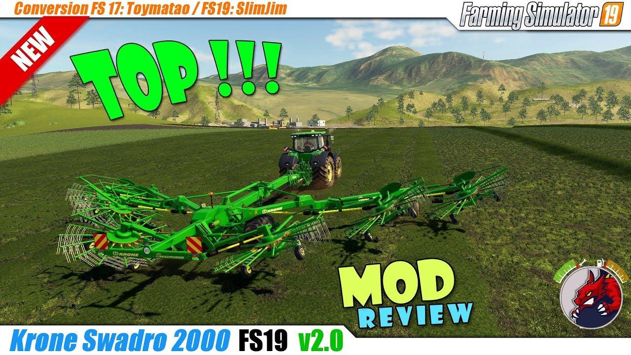 Krone Swadro 2000 V 2 0   FS19 mods, Farming simulator 19 mods