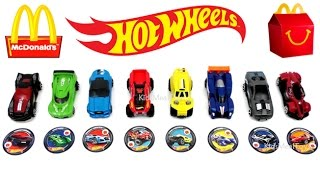 McDONALD'S HOT WHEELS HAPPY MEAL TOYS 2017 SPORTS MUSCLE RACING CARS F1 COLLECTION FULL SET 8 K