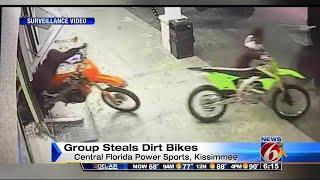 Motorbike bandits caught on camera