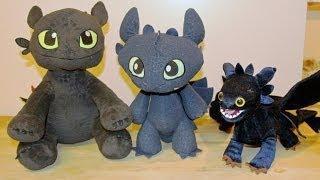TOOTHLESS - THREE How to Train Your Dragon 2 Plush Dragons!