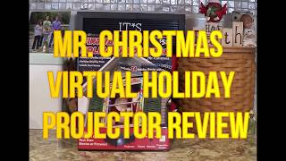 Mr Christmas Virtual Holiday Projector Unboxing, Demo and Review