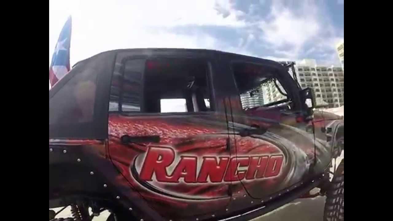 Rancho Shocks Puerto Rico Jeep Jeep Beach - YouTube