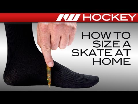 How to Find Your Hockey Skate Size & Fit at Home